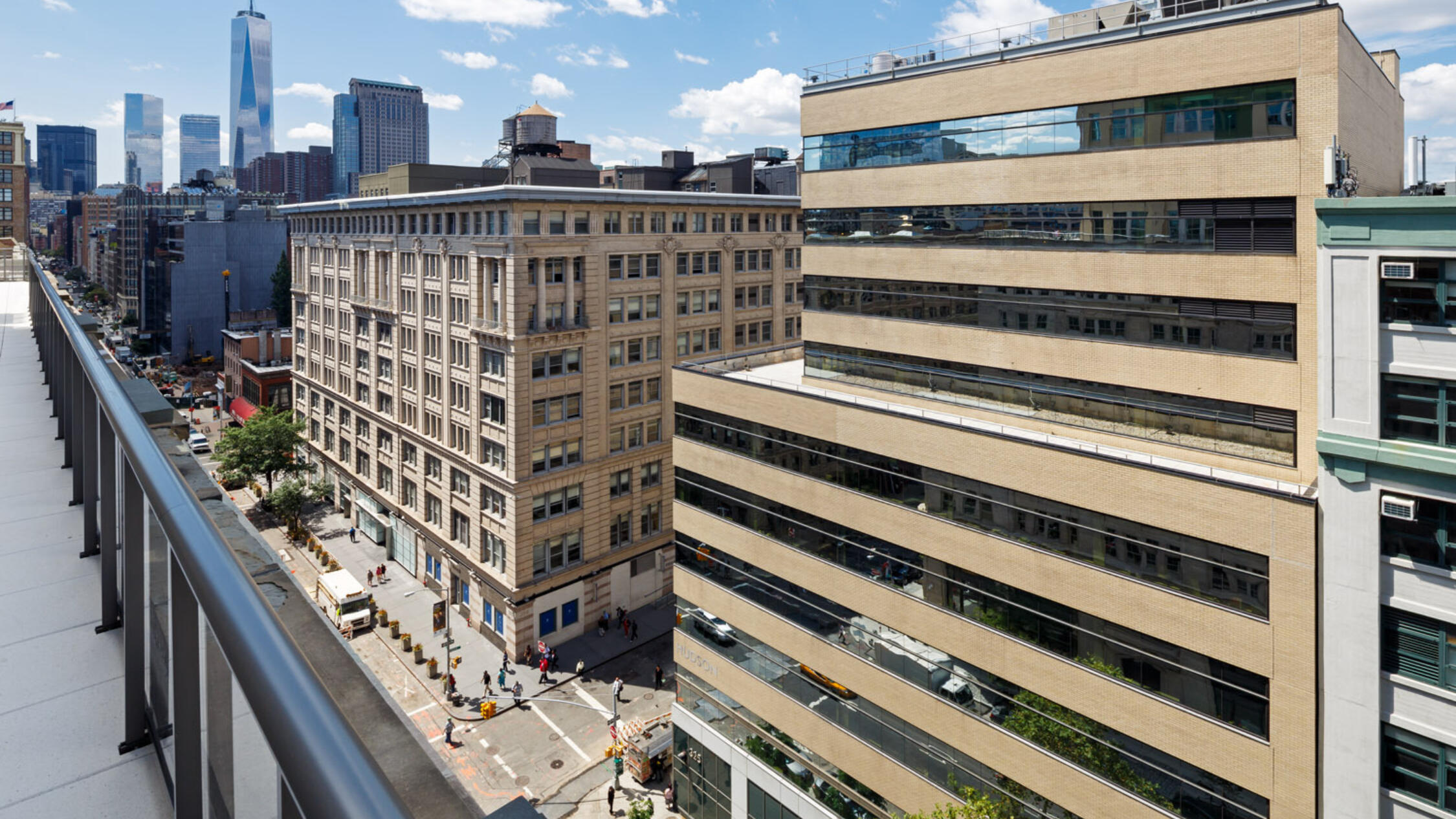 325 Hudson viewed from roof of building across the street