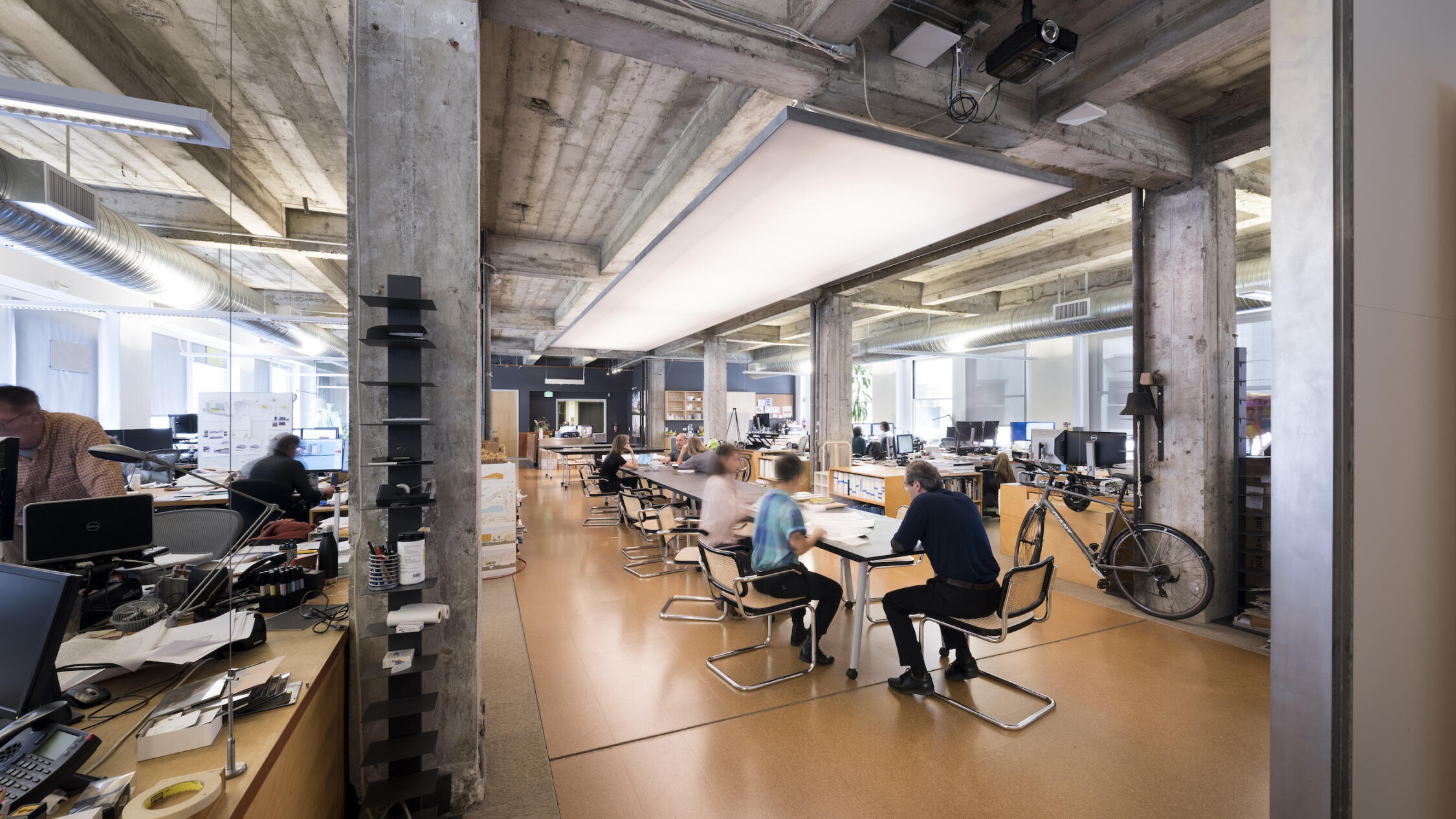 660 Market office with employees at workspaces