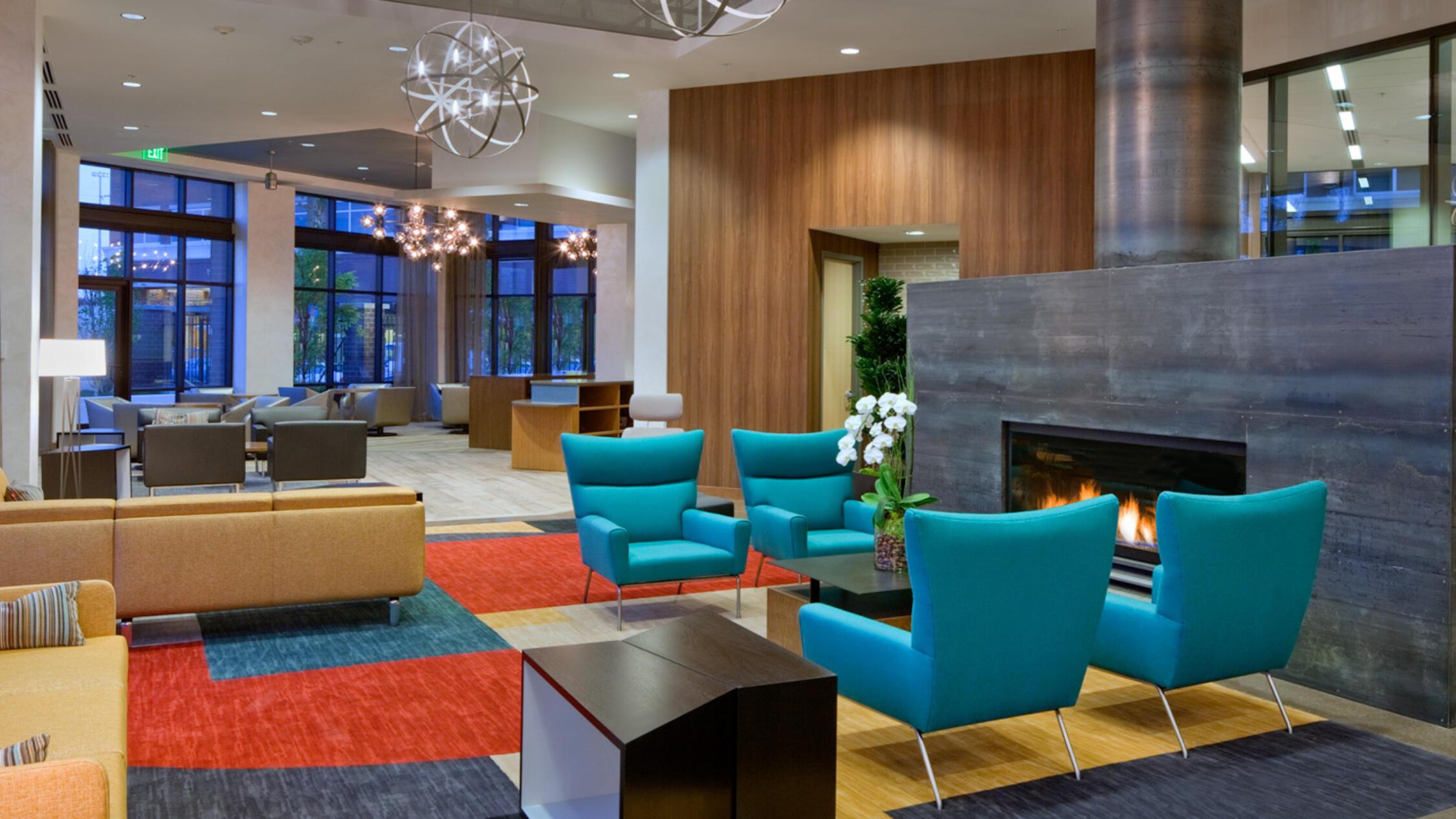 Home Plate Center interior common area