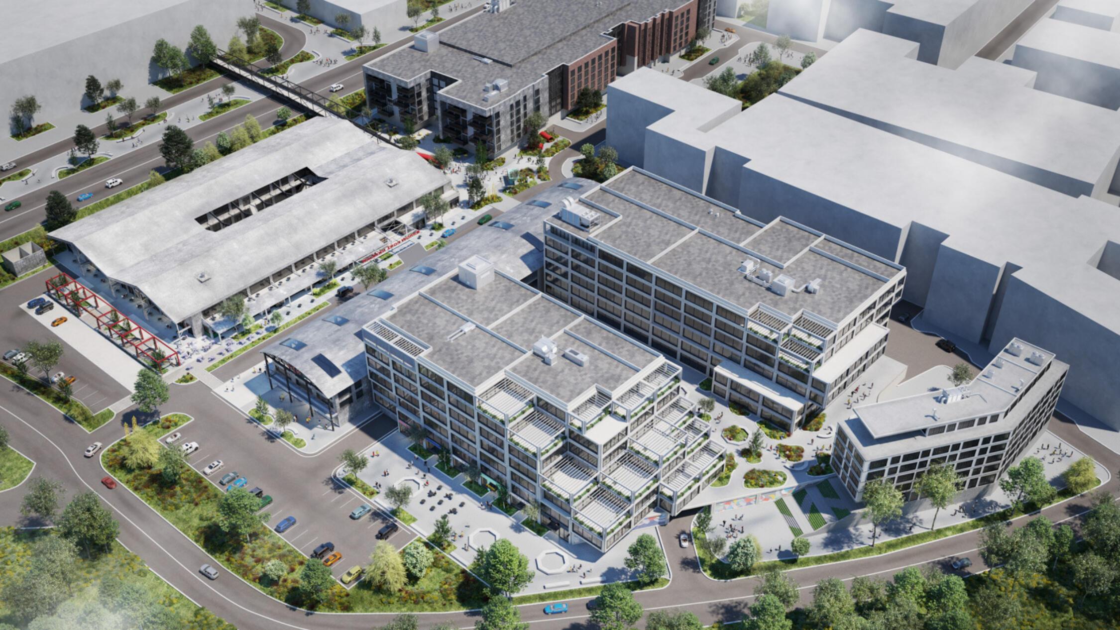 Raleigh Iron Works aerial rendering
