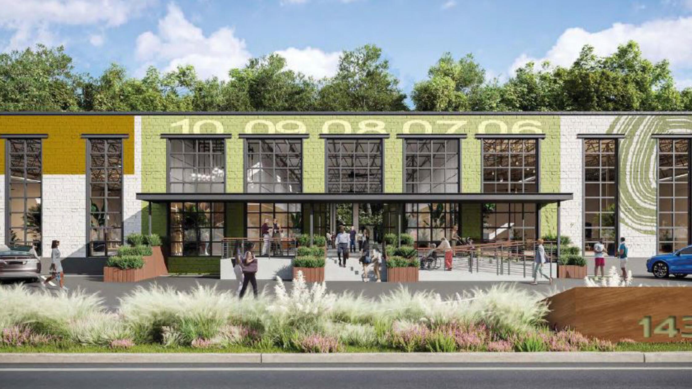Upper Westside Portfolio rendering of retail facade