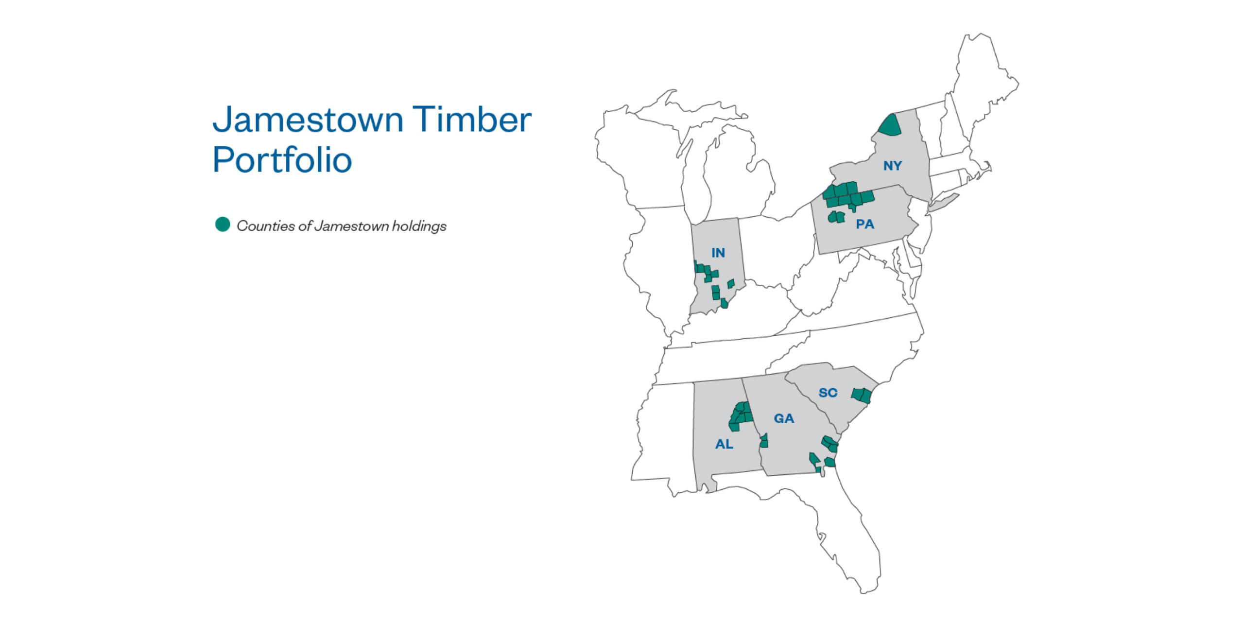 Jamestown Timber Portfolio Map 05-13-20