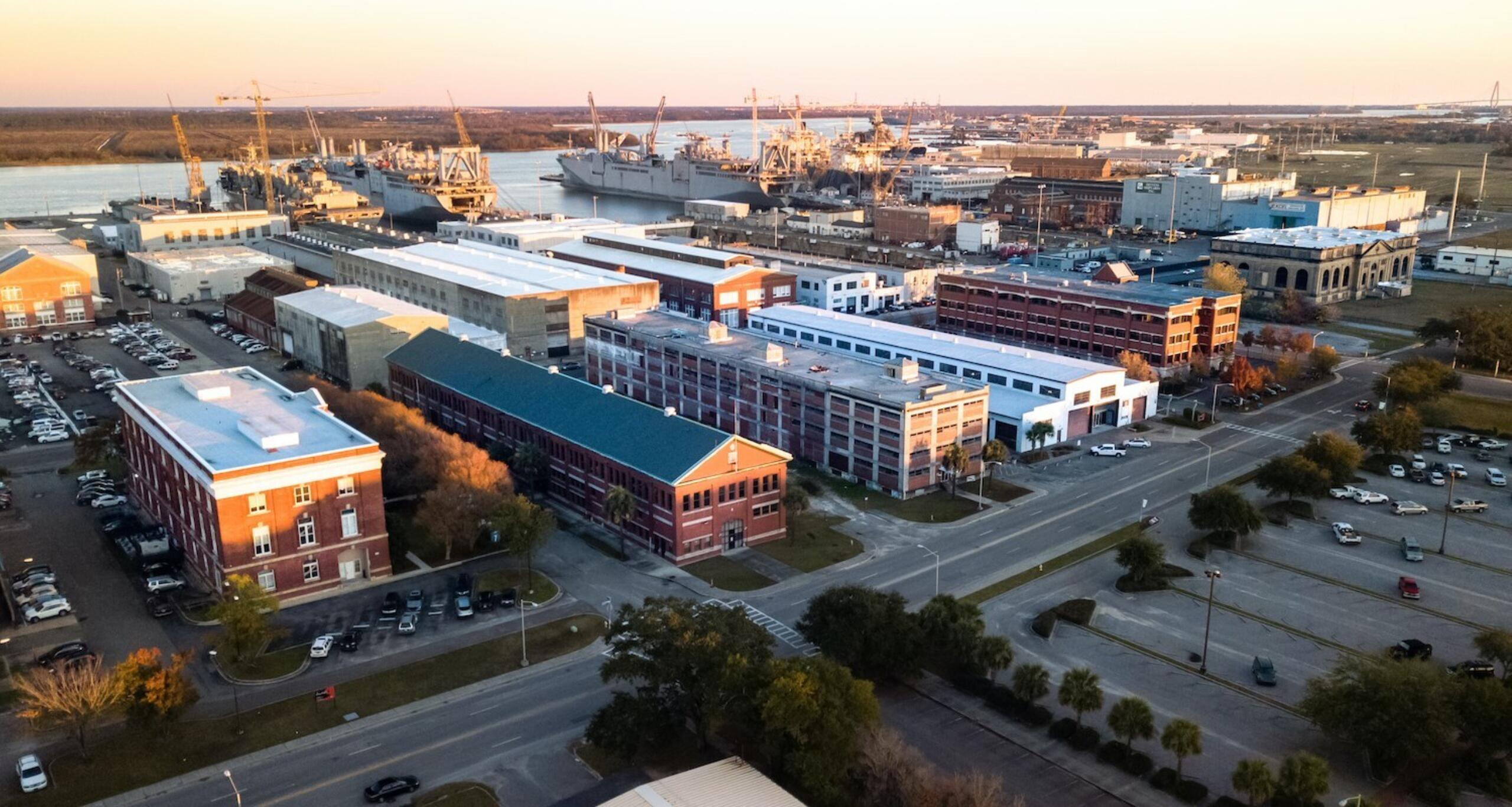 North charleston navy yard aerial