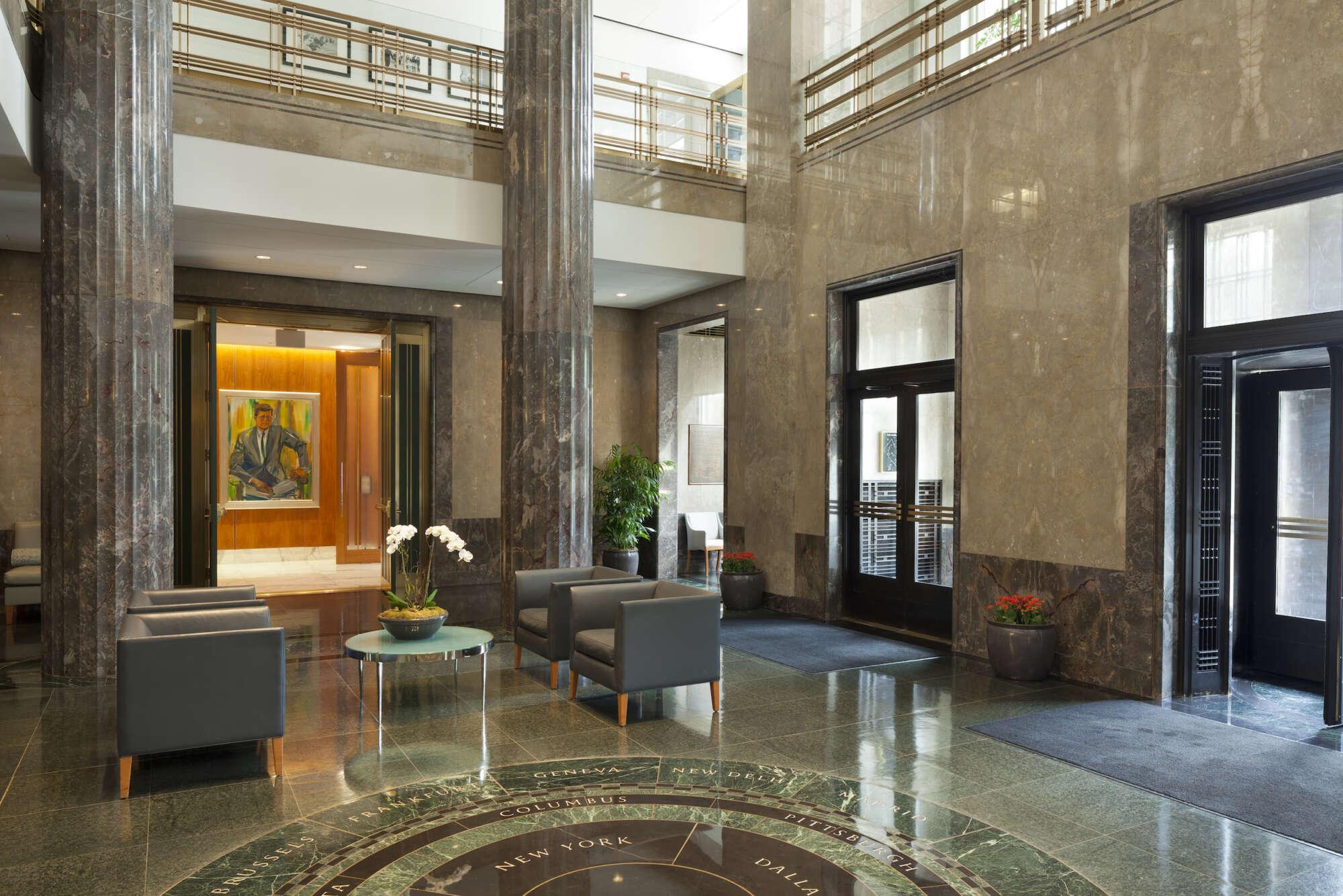 America's Square lobby