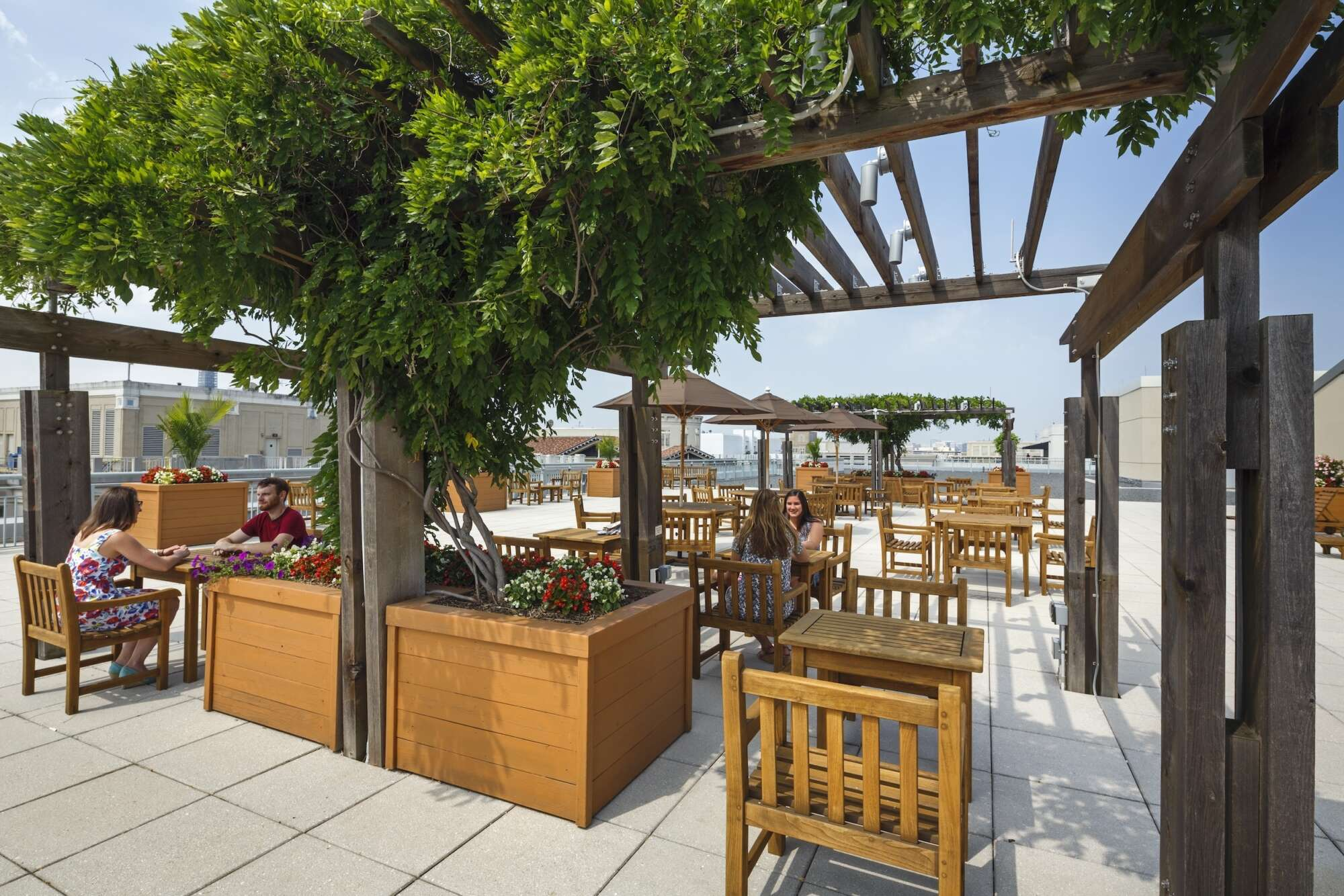 Rooftop patio of One Metro Center